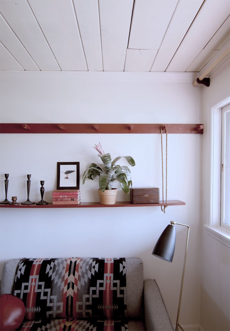 Make A Diy Peg Rail Amp Create A Killer Small Space Seating Area